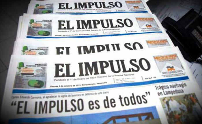 Diario El Impulso dejará de circular por falta de papel