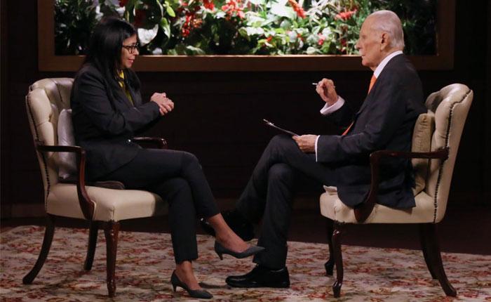 Delcy Rodríguez espera que Trump derogue el decreto de Obama