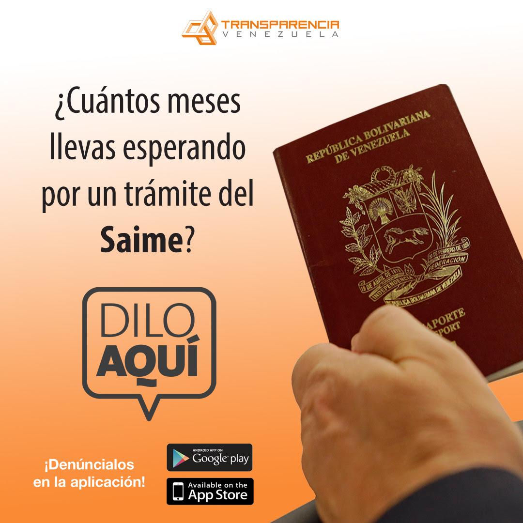 Dilo Aquí Transparencia Venezuela Pasaportes