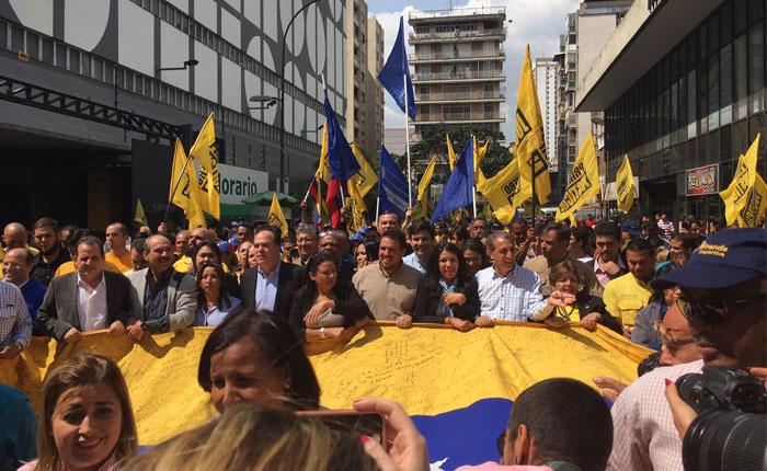 Diputados marchan a la OEA para exigir cronograma electoral