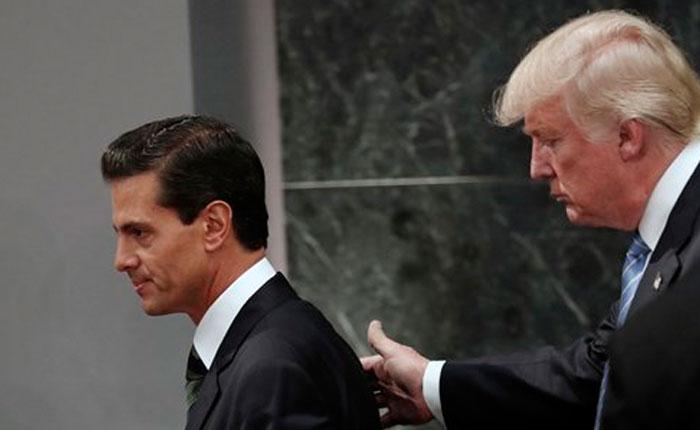Donald Trump y Enrique Peña Nieto acuerdan no hablar públicamente de muro