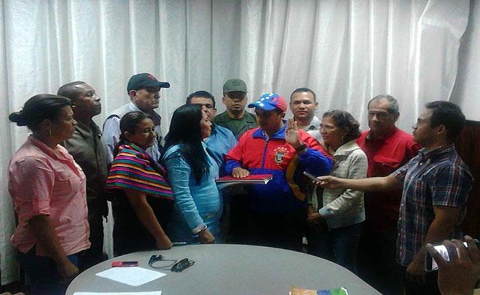 Chavistas juramentaron a Edwin Rojas como nuevo gobernador de Sucre