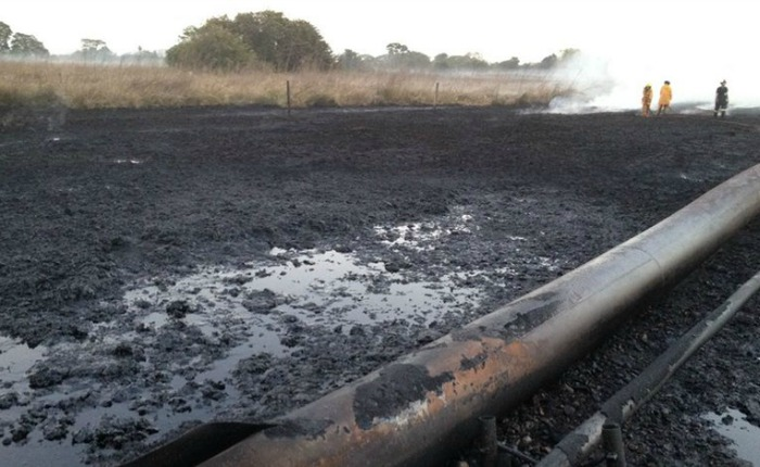 Controlan incendio del oleoducto de Pdvsa en Barinas