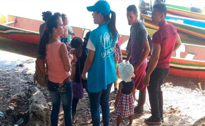Acnur atiende en territorio venezolano a desplazados colombianos
