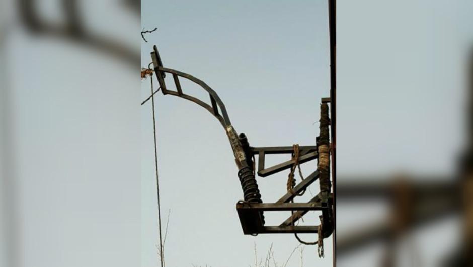 Decomisan catapulta usada para lanzar marihuana de México a Estados Unidos