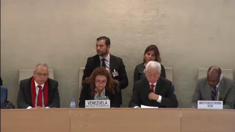 Delegación venezolanba EPU marzo 2018
