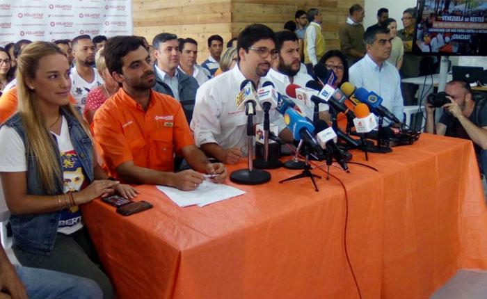 Voluntad Popular elegirá candidatos a gobernadores y alcaldes en mayo