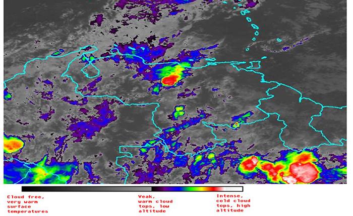 Alertan sobre vaguada y fuertes lluvias en el país