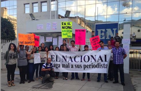 el nacional protesta