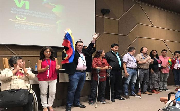 Venezuela obtuvo vicepresidencia de Red Latinoamericana y del Caribe de Personas con Discapacidad
