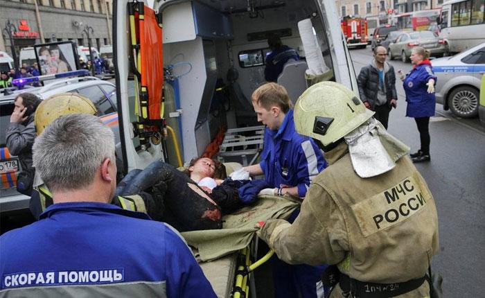 Rusia: Al menos 10 muertos y 50 heridos por explosión en metro de San Petersburgo