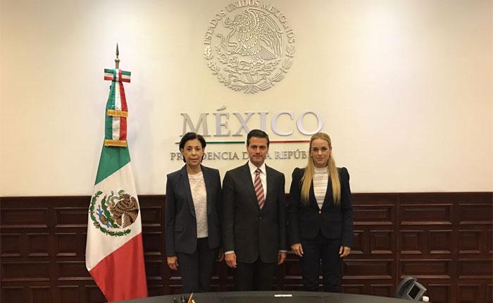 Lilian Tintori se reunió con Peña Nieto en México para tratar situación de Venezuela