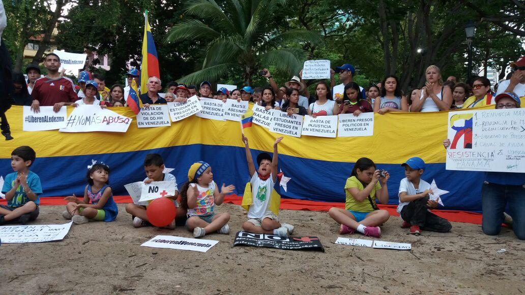 Protesta venezuela Panamá