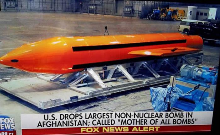 """EEUU lanzó hoy la """"madre de todas las bombas"""" no nucleares contra el EI en Afganistán"""