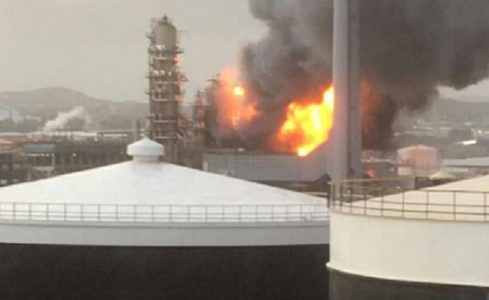 Reportan incendio de gran magnitud en refinería de PDVSA en Curazao
