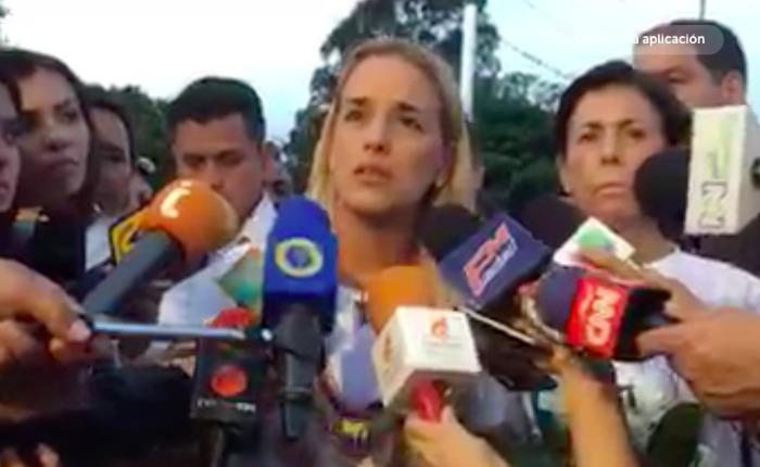 """Lilian Tintori: """"No hubo negociación para que Leopoldo esté en su casa"""""""