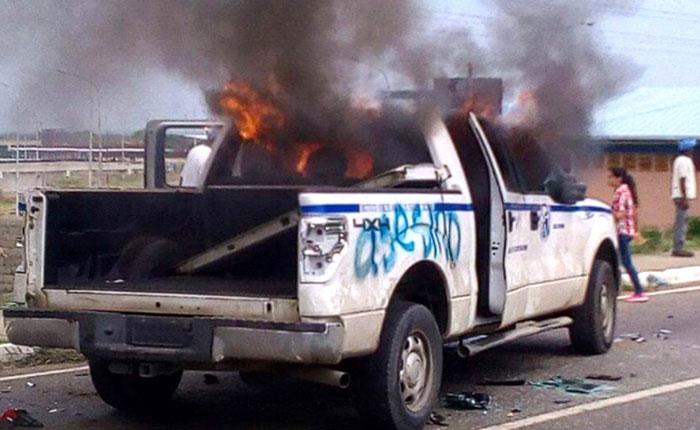 Atropellaron con camioneta del IVSS a joven que protestaba en Calabozo este #9M