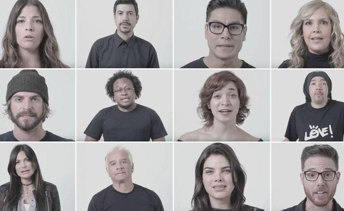 Artistas enviaron un mensaje para rechazar la violencia en Venezuela