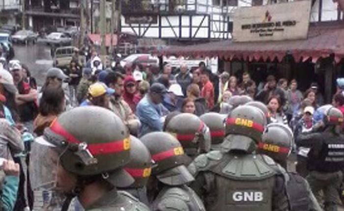 Militarizan la Colonia Tovar por protestar contra la Constituyente