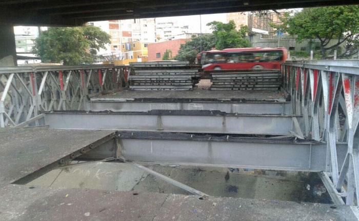 Aseguran que desmontaje de puentes en Las Mercedes y Bello Monte no acallarán protestas