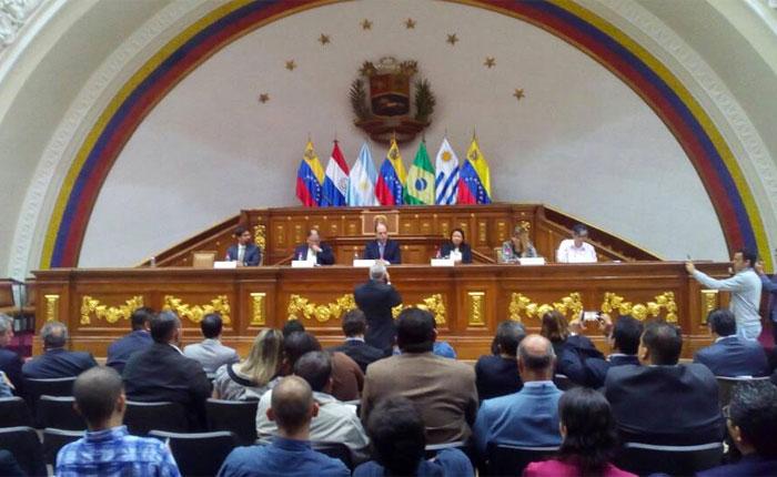 AN recibe comisión del Parlasur para hablar sobre la violación de derechos humanos en Venezuela
