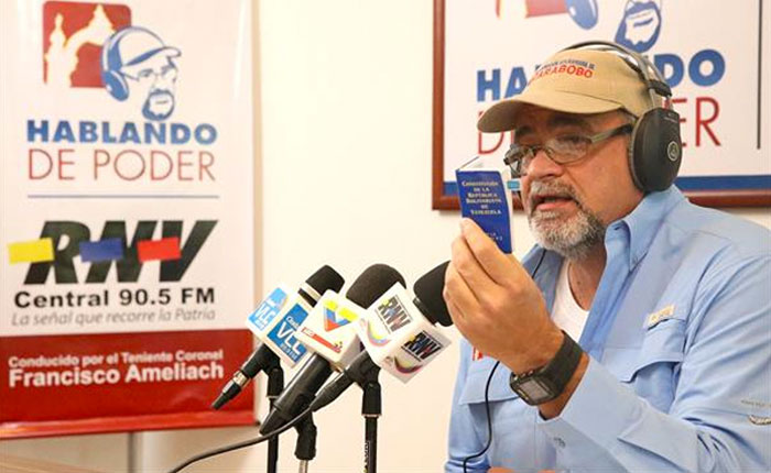 Francisco Ameliach renunció como gobernador para aspirar a la Constituyente