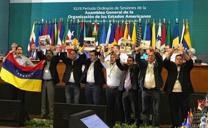 Diputados irrumpieron Asamblea General de la OEA para pedir por Venezuela