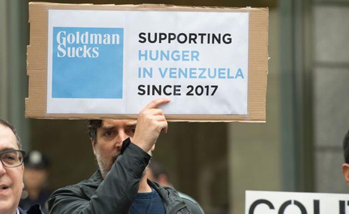 Goldman-Sachs Protesta AFP