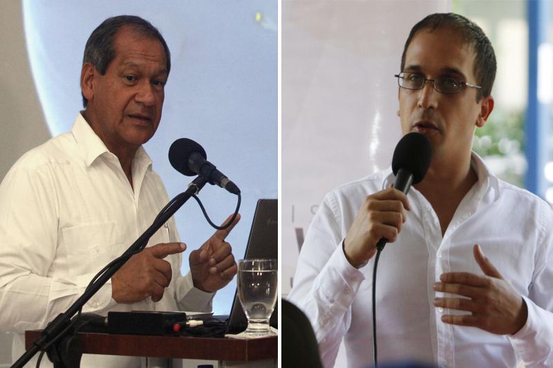 Luis Acuña y Edwin Rojas