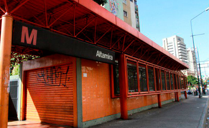 Metro de Caracas cerró estaciones Chacaíto, Chacao y Altamira