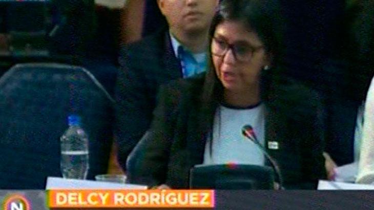 Nuevamente la OEA se hizo la indiferente frente a Venezuela y Delcy Rodríguez aprovechó para hacer mutis