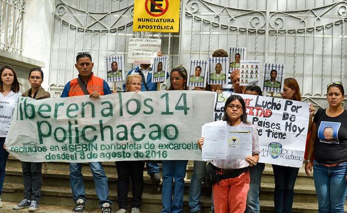 Funcionarios de Polichacao presos en El Helicoide inician huelga de hambre