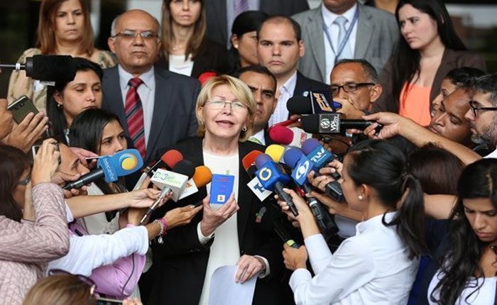 """Luisa Ortega Díaz dice que en Venezuela """"la verdad ha sido criminalizada"""""""