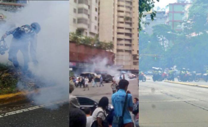 PNB reprime concentraciones en Montalbán, Candelaria, la avenida Victoria y Bello Monte