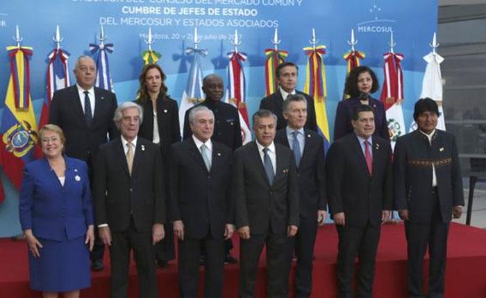 Mercosur suspenderá a Venezuela hasta que se restablezca la democracia