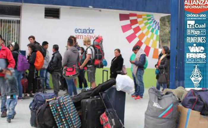 Éxodo masivo de venezolanos hizo que Ecuador reforzara filtros de seguridad