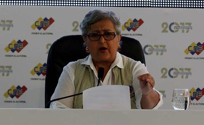 Presidenta del CNE rechaza declaraciones de Smartmatic sobre la Constituyente
