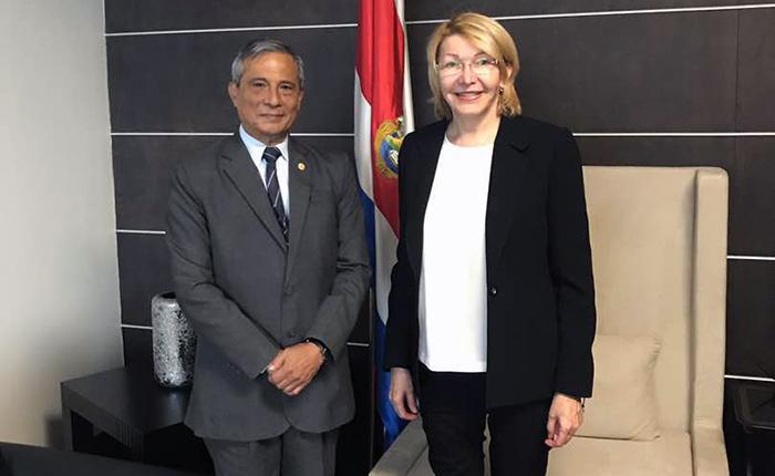 Luisa Ortega Díaz se reune hoy con el Fiscal General en Costa Rica