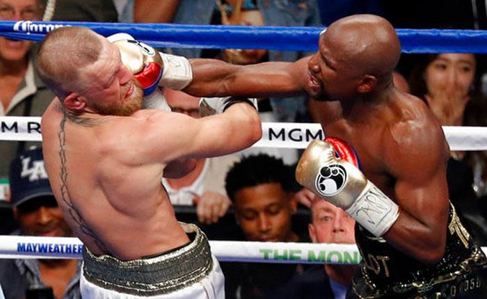 Mayweather se lució y noqueó a McGregor en el 10mo round
