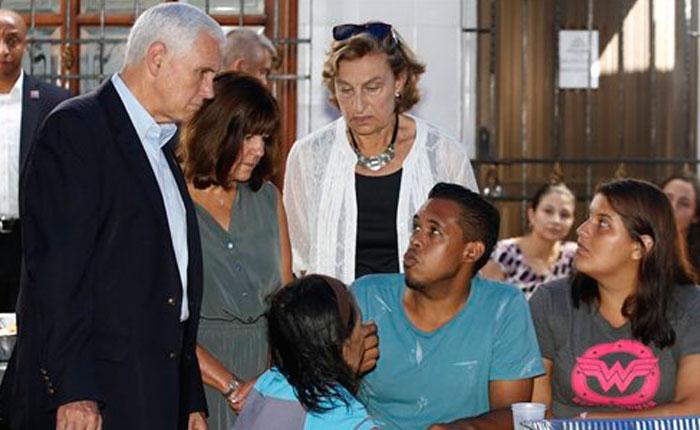 Vicepresidente de EE UU se reunió con venezolanos en Colombia