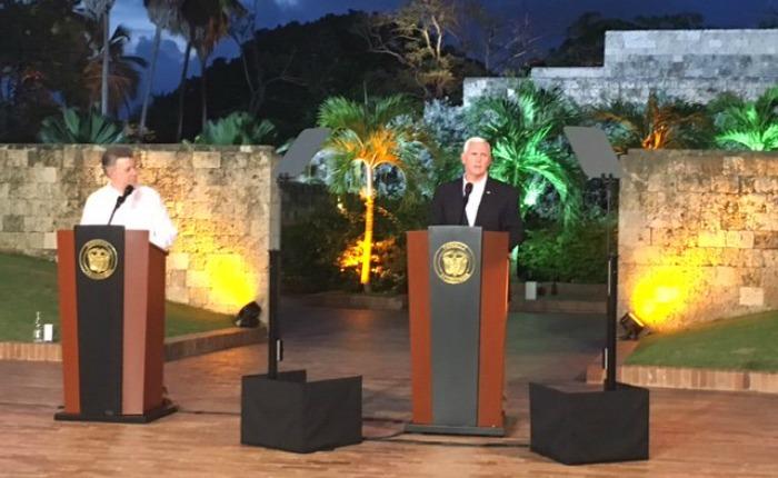 """""""EEUU no descansará hasta que Venezuela vuelva a una plena y próspera democracia"""": Vicepresidente Mike Pence"""