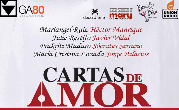 """Grupo Actoral 80 presentará """"Cartas de Amor"""" en el Trasnocho Cultural"""