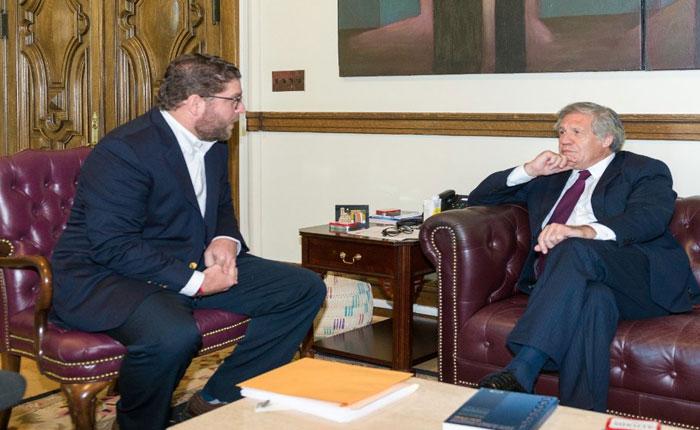 Alcalde Marcano se reunió con Luis Almagro en Washington