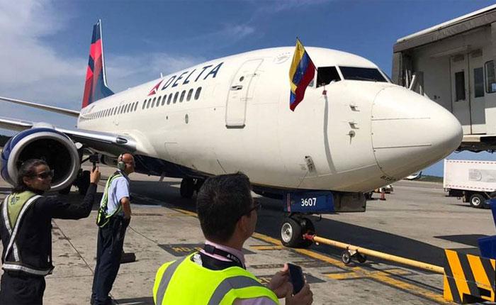 Delta Air realizó su último vuelo desde Venezuela este sábado