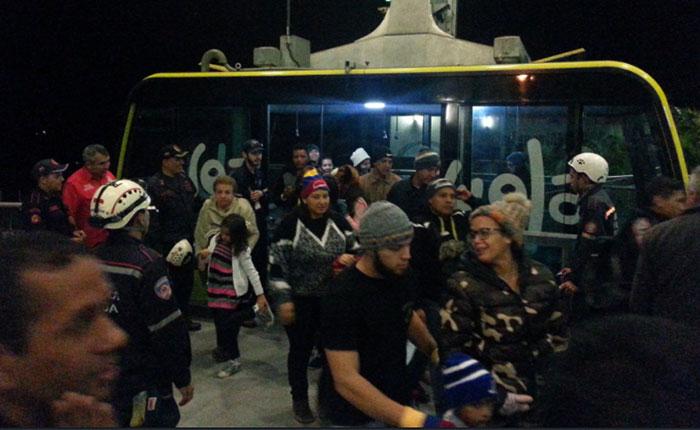 Turistas quedaron varados en Teleférico de Mérida por fallas eléctricas