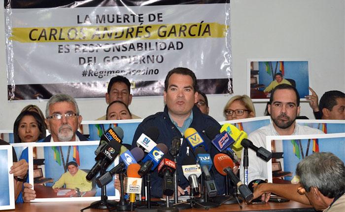 Primero Justicia denunciará muerte de Carlos García en instancias nacionales e internacionales