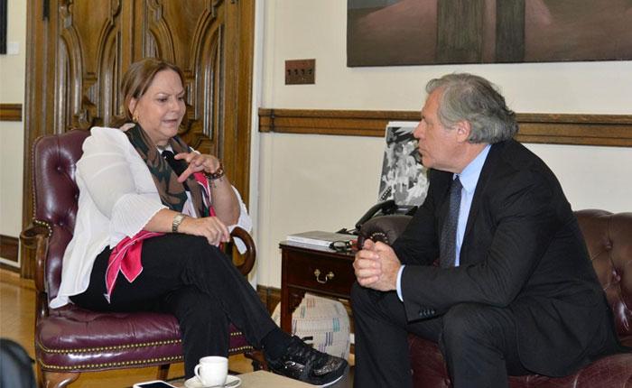 Almagro se reunió con Mitzy Capriles de Ledezma
