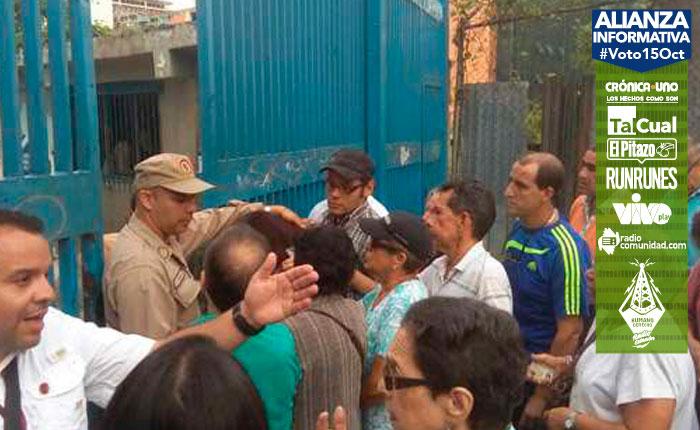 #Voto15Oct El CNE y Plan República hicieron de las suyas en Chacao