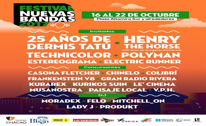 Todos los detalles del Festival Nuevas Bandas 2017