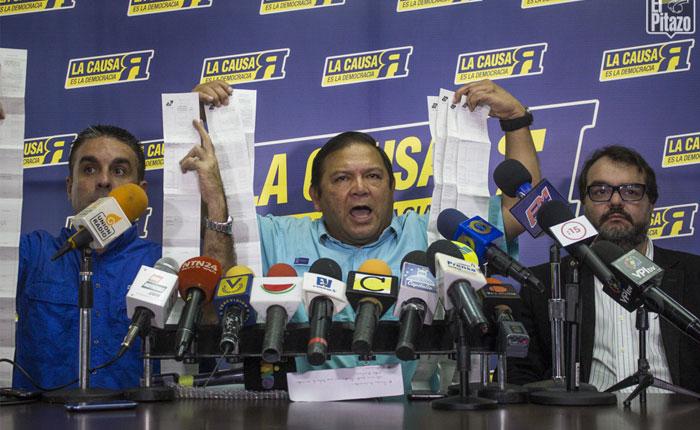 Velásquez: CNE admitió recurso de impugnación de resultados en Bolívar